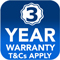 3 yr warranty button