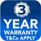 3 yr warranty button